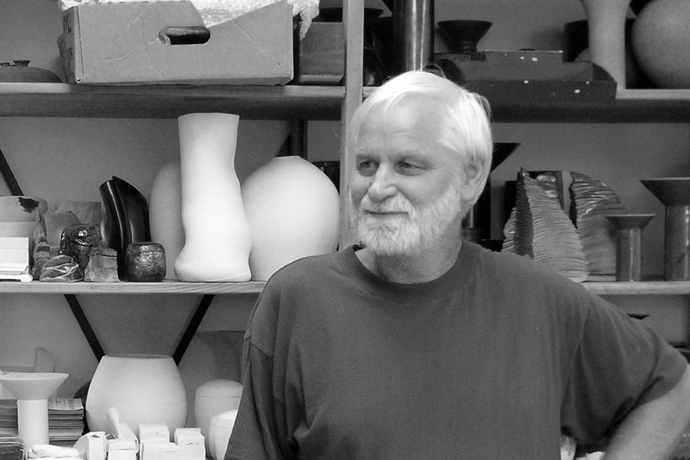 Graham Ambrose - Before turning his talents to pottery, Graham had won numerous awards for his furniture designs. But when the opportunity arose to swap mediums, he was more than ready to change. Strongly influenced by the modernist movement, his primary interest is in creating minimalist forms -he is particularly known for his mastery of a bold red glaze that complements these unadorned shapes.