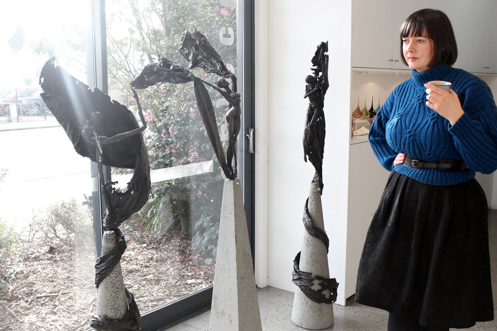 Resident jeweller Sophie Divett and 3 one-off sculptures
