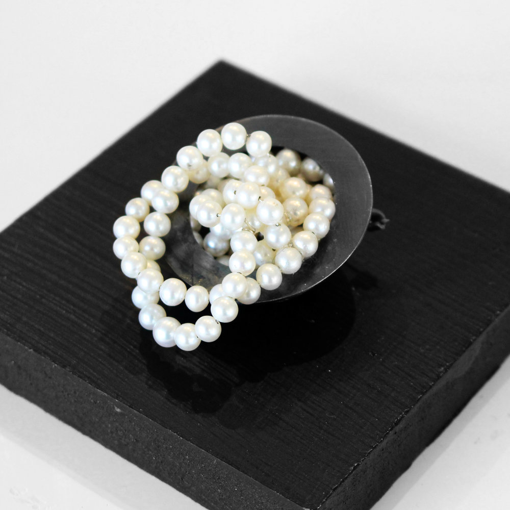 Tumbling Pearls Brooch