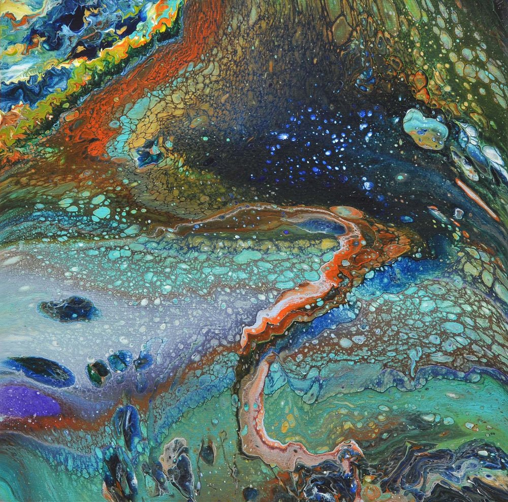 """Bruce Bowditch - """"The whole cosmos, from the tiny atom to entire galaxies, display striking similarities. Images of rock, water, flame, wood, clouds, even outer space can be hard to distinguish from one another."""