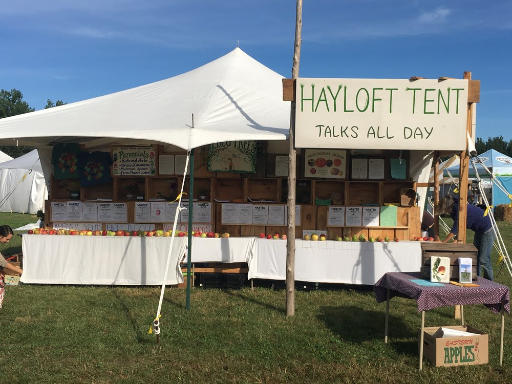 Hayloft Tent @ the Common Ground Fair photo by Laura Sieger