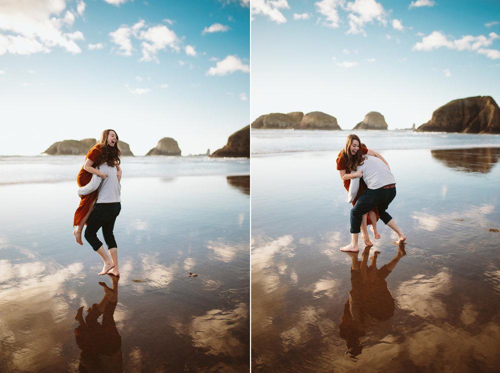 Oregon Coast Engagement - Ecola State Park