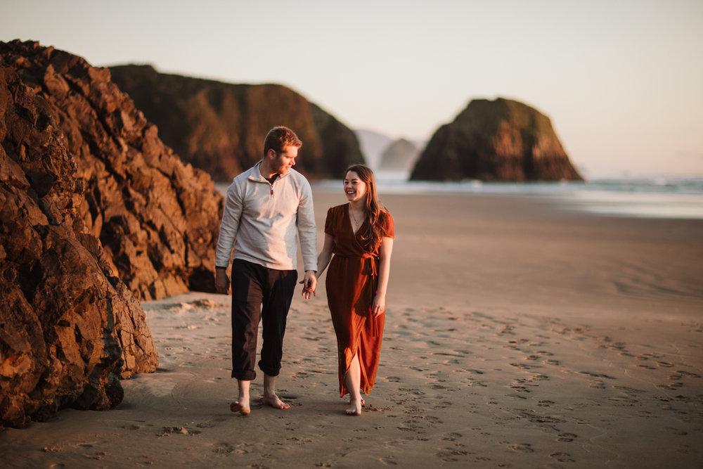 Oregon Coast Engagement - Cannon Beach - Tori & Grayson