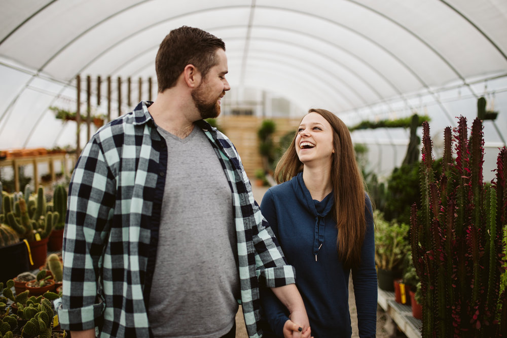 nashville engagement photographer, hewitt garden center