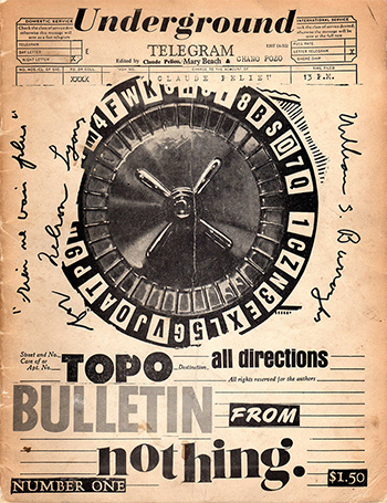 Bulletin from Nothing, 1965, First Issue
