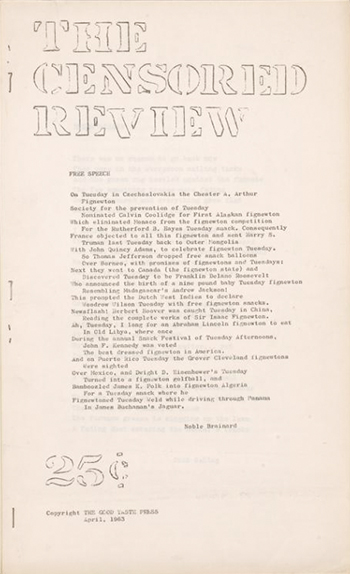 The Censored Review, 1963