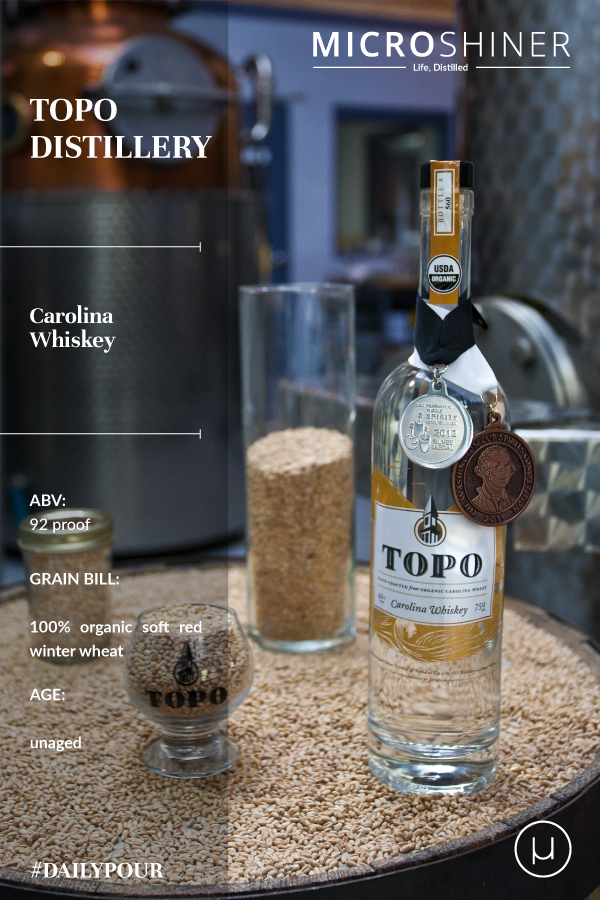 #DailyPour - Carolina Whiskey, organic craft spirits from TOPO microdistillery