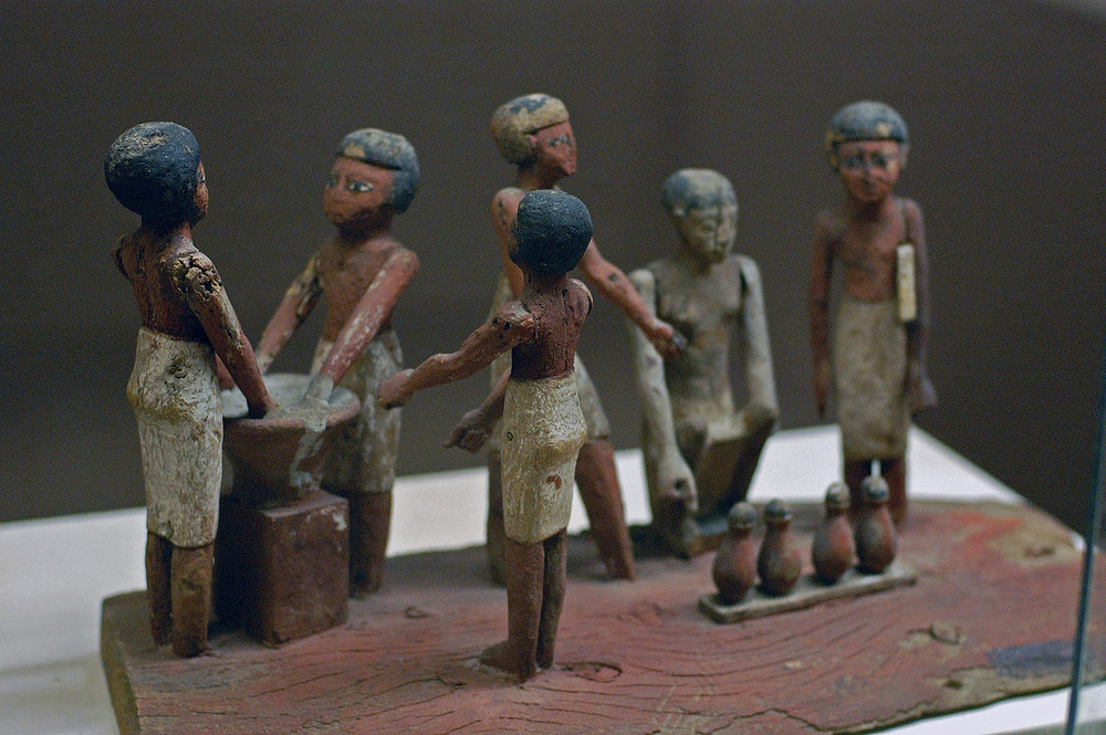Wooden model of beer making in ancient Egypt. (E. Michael Smith Chiefio /   CC BY 2.5    )