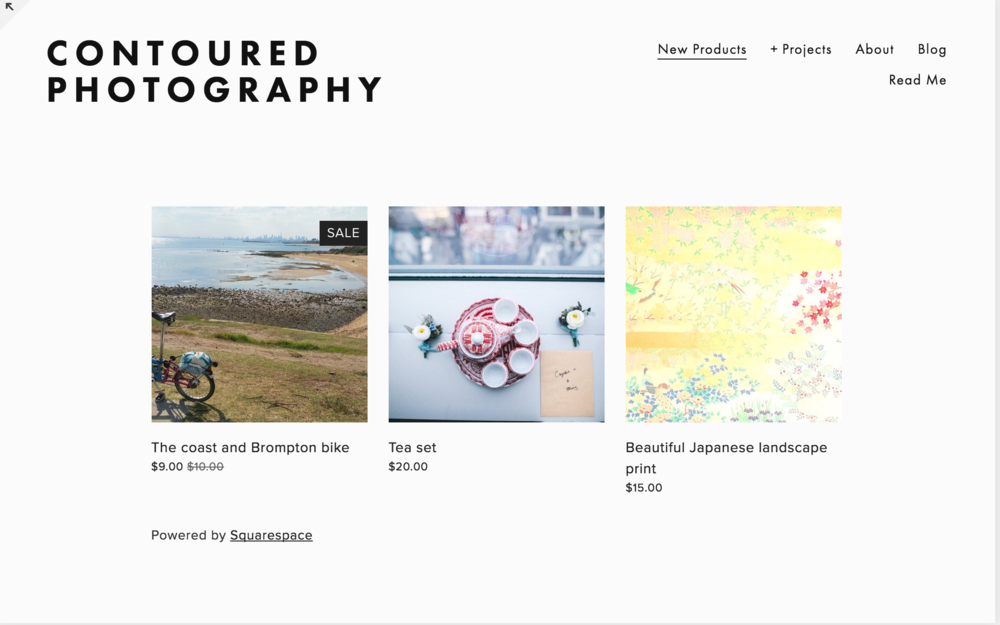 This simple shop we whipped up with very little effort, isn't it pretty? We love Squarespace designs for a simple portfolio photography website, selling the occasional photo, but not for selling bulk stock photos.