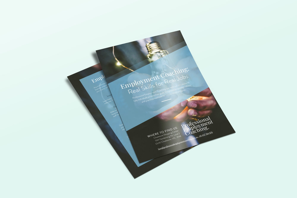 Premium flyer design Ballarat coaching
