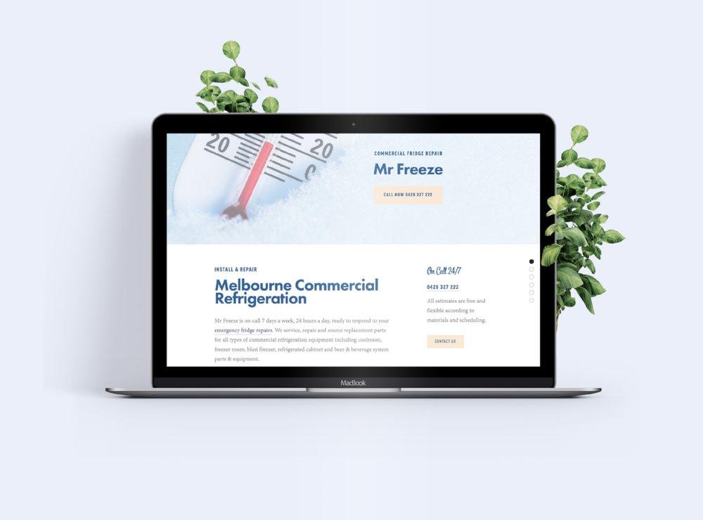 Tradesman Website Design Commercial Refrigeration Melbourne Cafe
