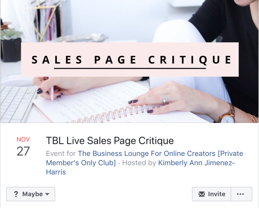 A review of Kim Jimenez' The Business Lounge - online business course membership