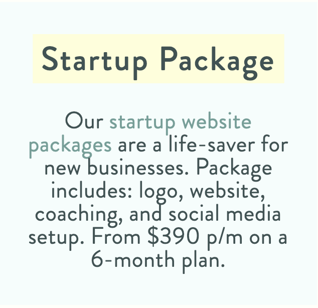 Startup package Ballarat