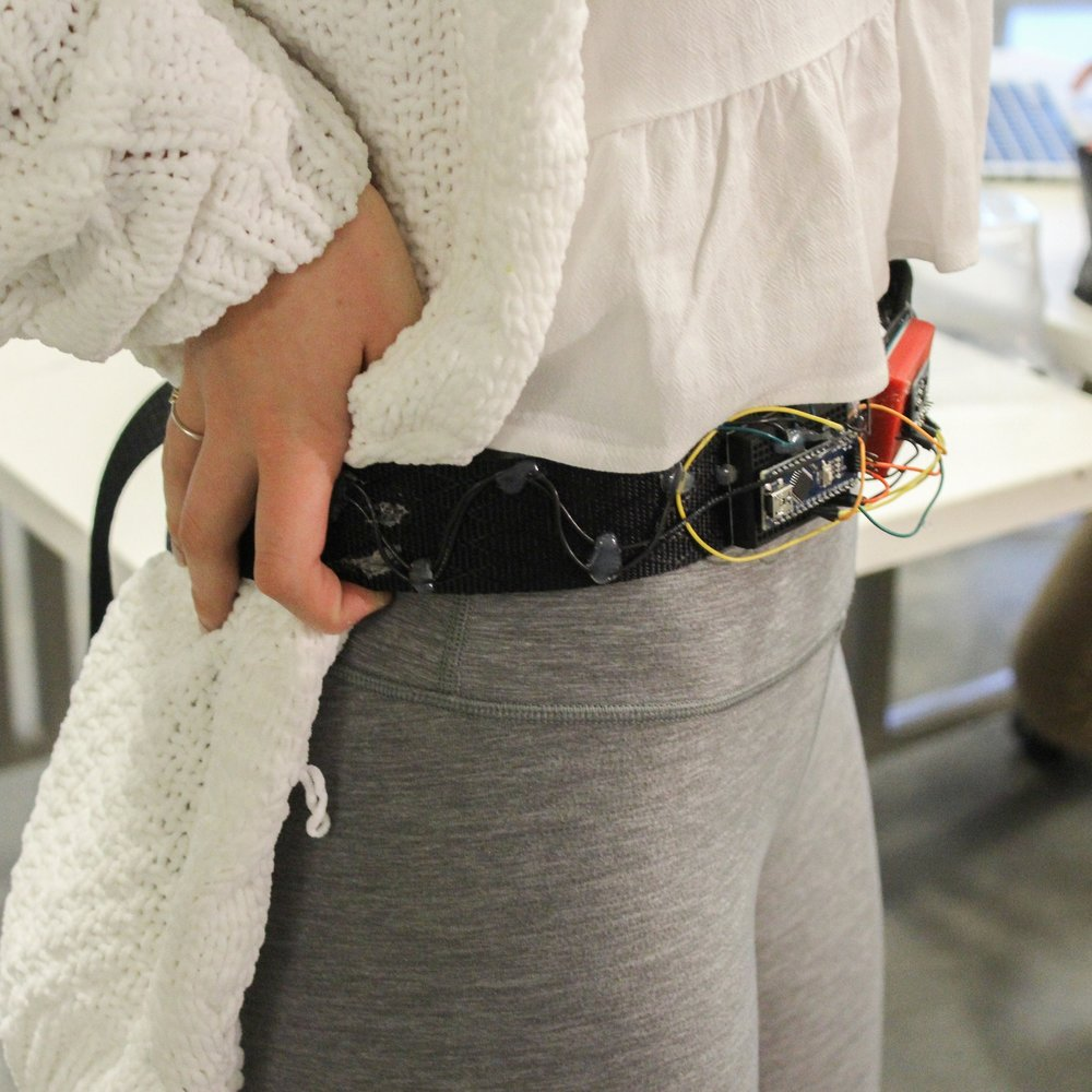 stria - A belt to help prevent dangerous veering for the blind. (winner of Inventor's Challenge by AT&T//semifinalist-Diamond Challenge//finalist-Paradigm Challenge)