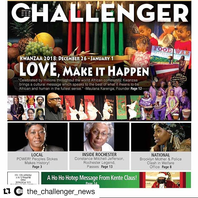 THANK YOU to @the_challenger_news for publishing the article about my message for the season and toy list of recommendations to inspire your children through knowledge, creativity and family family fun! Look out for & pick up your copy of #TheChallengerNews today! #Repost @the_challenger_news ・・・ Happy Christmas and Happy Kwanzaa . Everyone Pick Up Your Challenger  For The Rochester and Buffalo Kwanzaa Schedule  Kente Claus Message And Toy List and Local Black News  or Visit Us Online (link in bio) #thechallengernews #buffalony #rochesterny #niagarafallsny #syracuseny #wny #blackpeoplebelike #blacktwitter #blacklove #blackfamily #blackchildren #blackownedbusiness #blacklivesmatter #blackcommunity #blackentrepreneur #blackeducators #blackdoctors #blackfirefighters #blackchefs #blackathletes #blacklawyers #blackpeople