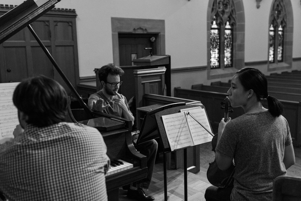 In rehearsal at Highland Park Presbyterian Church's Wynne Chapel
