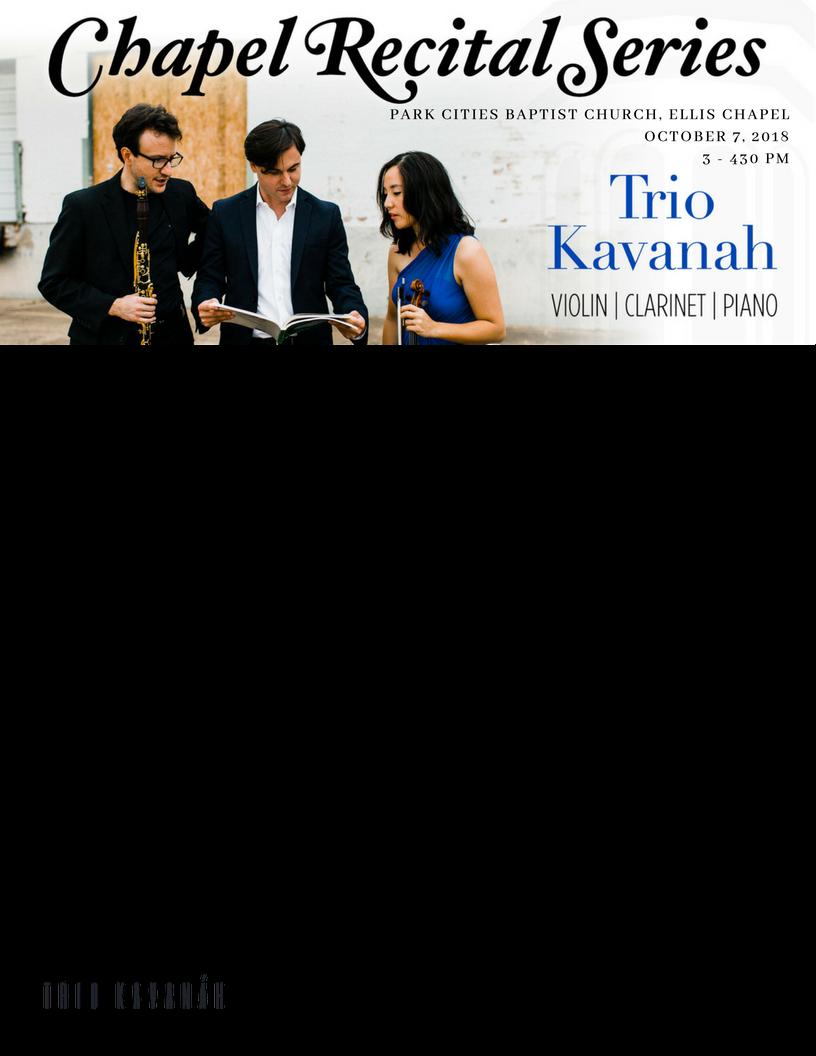 trio kavanah wollett hale goldman park cities baptist church chapel recital series