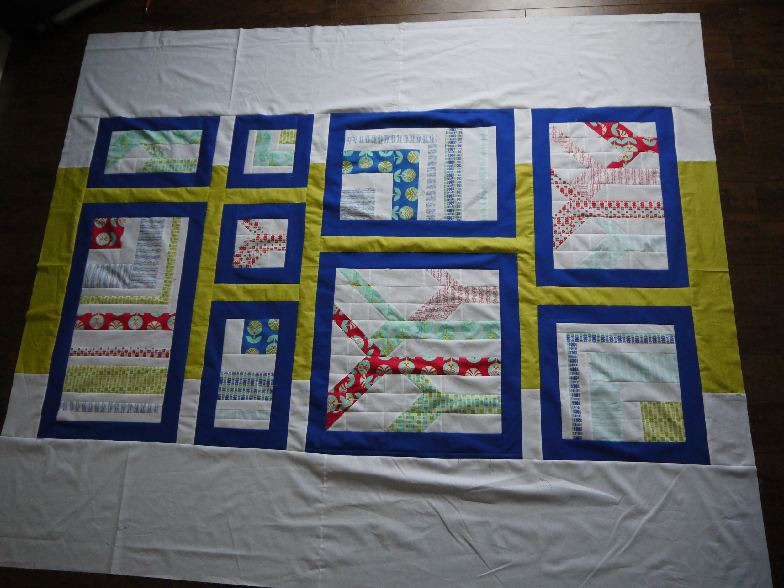 Colour-Me-Ruption Quilt Top