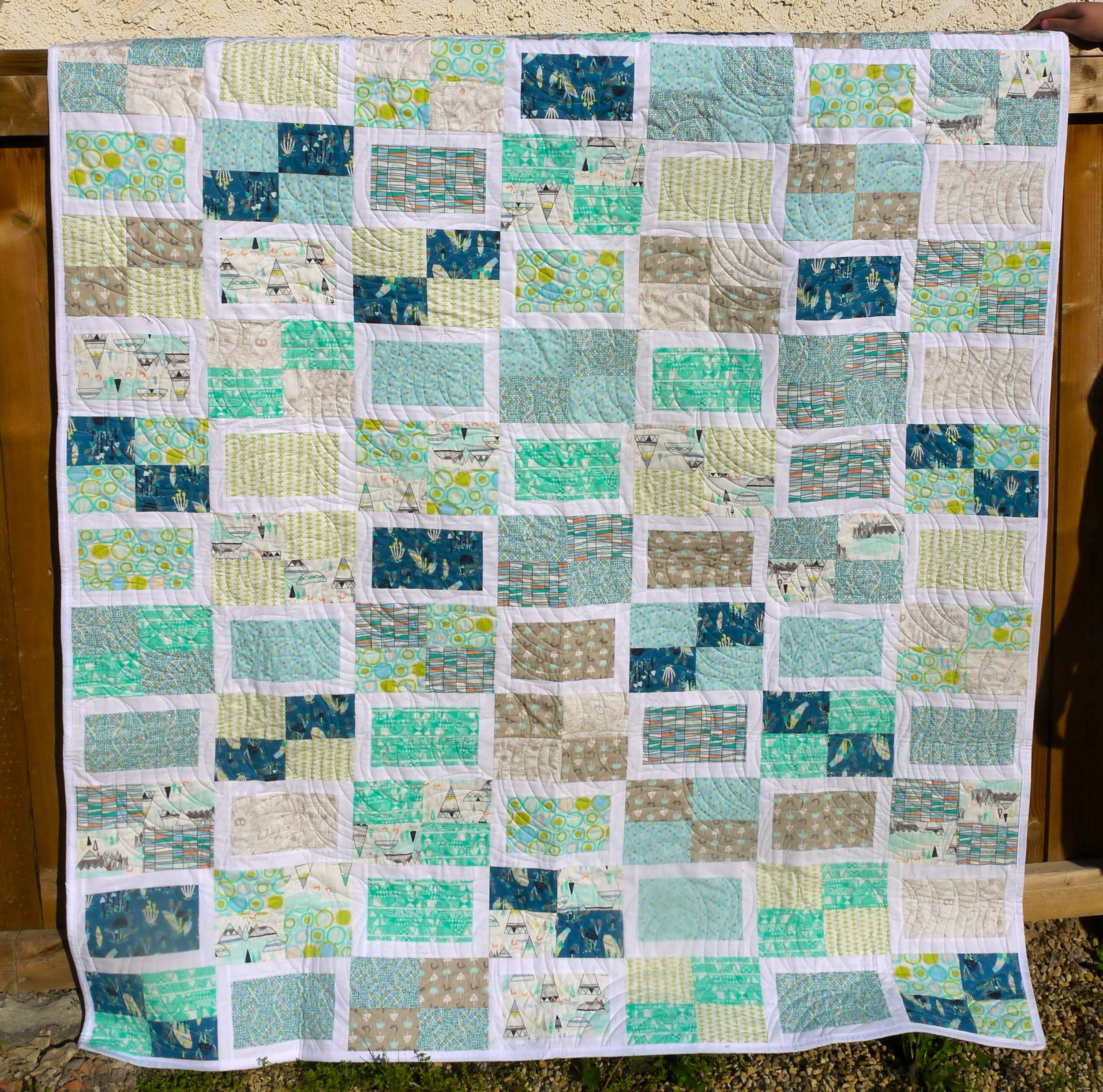 Indian Summer Quilt - Blue