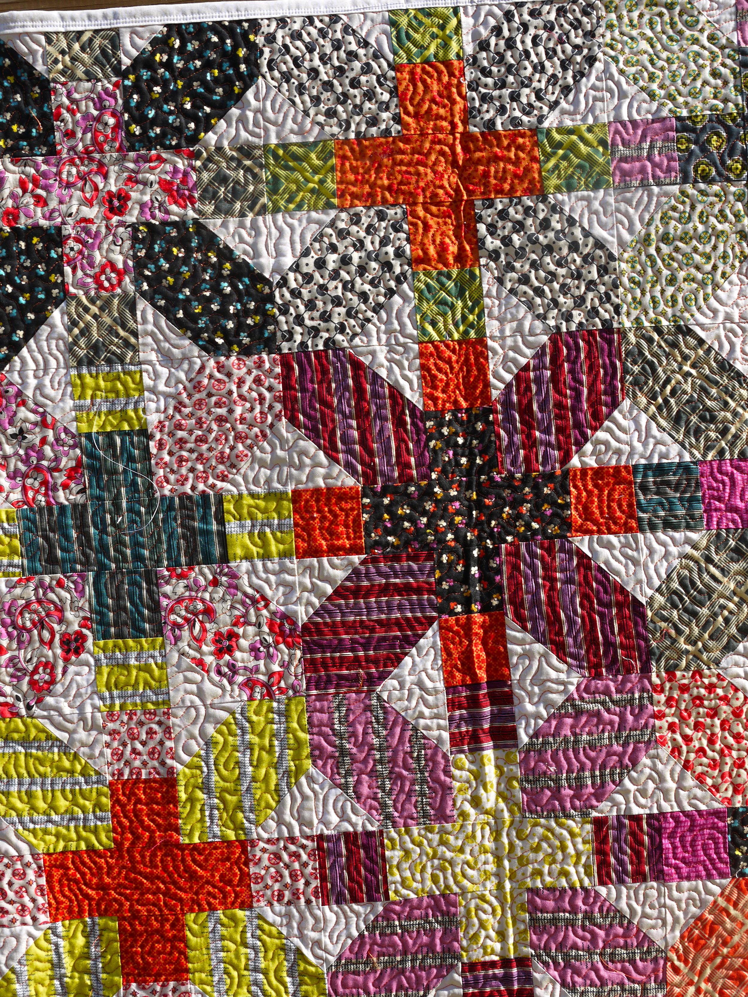 Denyse Schmidt X & + Quilt Close Up