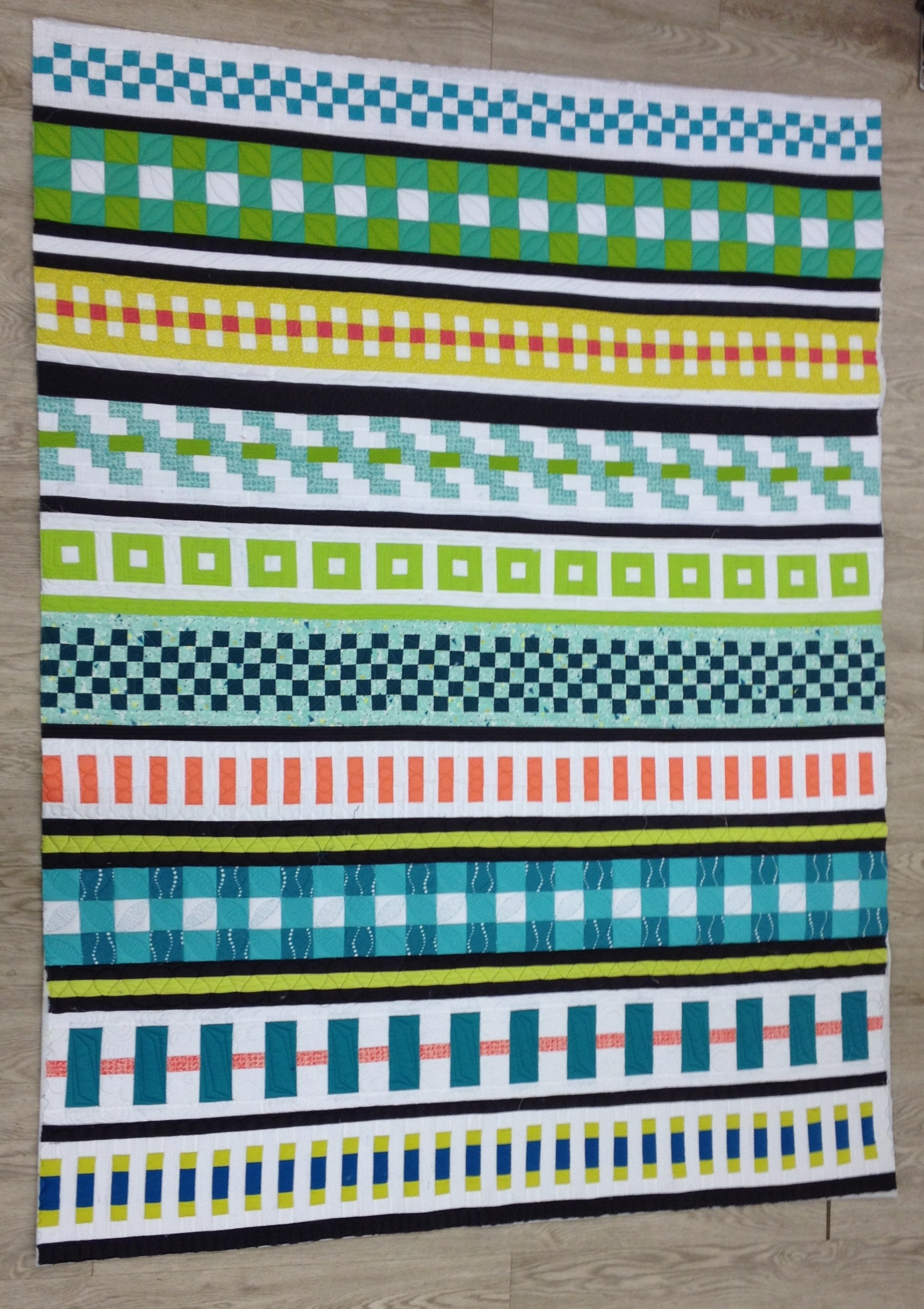 Finished Quilt -- or, almost