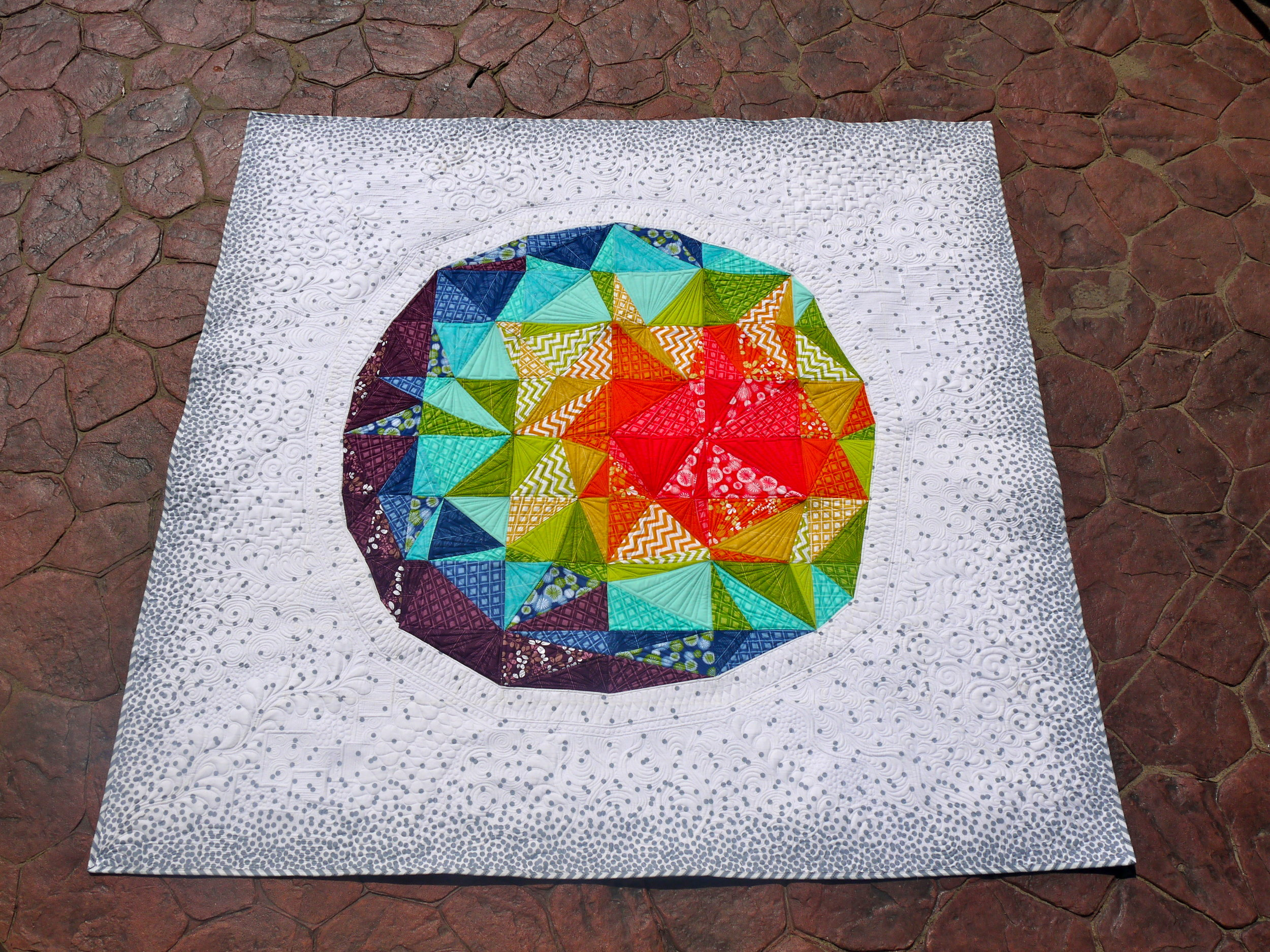 Spacedust Quilt Top
