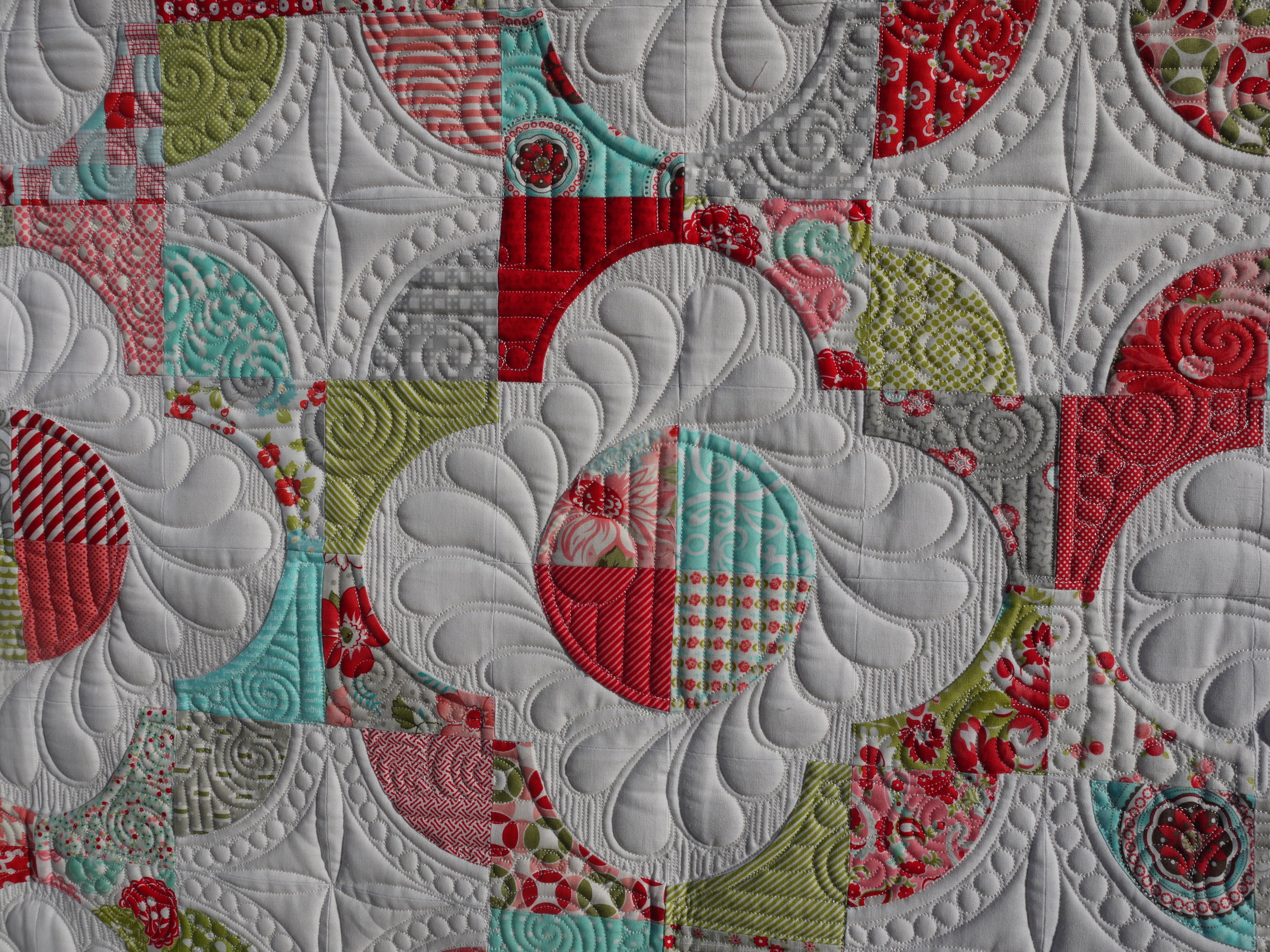 Something similar to how I quilted Angie's quilt