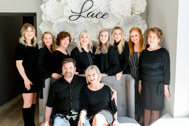 Kelly & Allen, owners of Lace, and the Lace staff