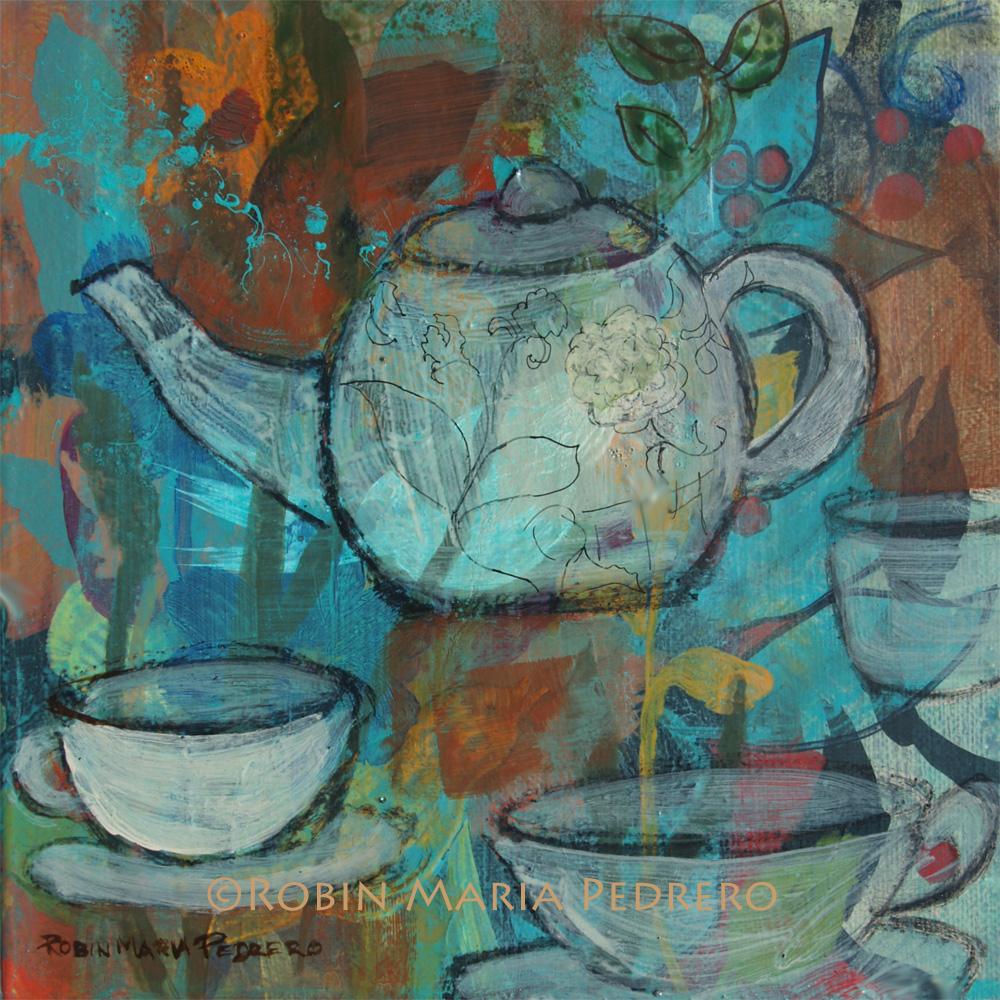 Still Life     Coffee, tea, dresses, vases