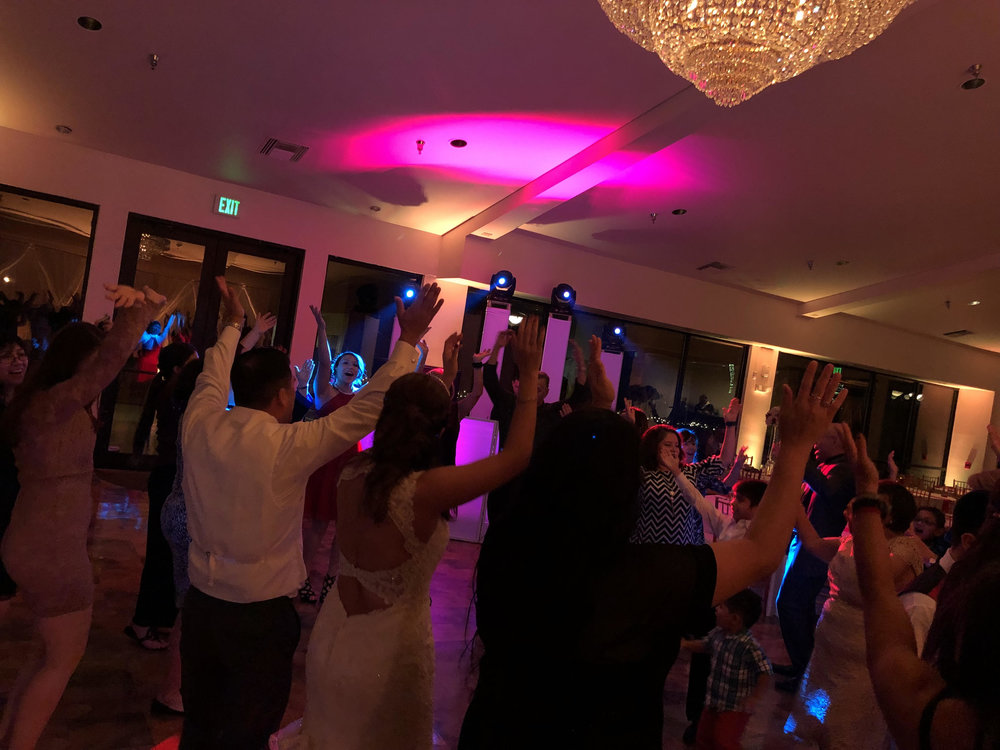 DANCE FLOOR LIGHTING - Energize your dance floor with a custom designed lighting system for your reception. From simple washes to nightlife-influenced, we can provide the best option for you.
