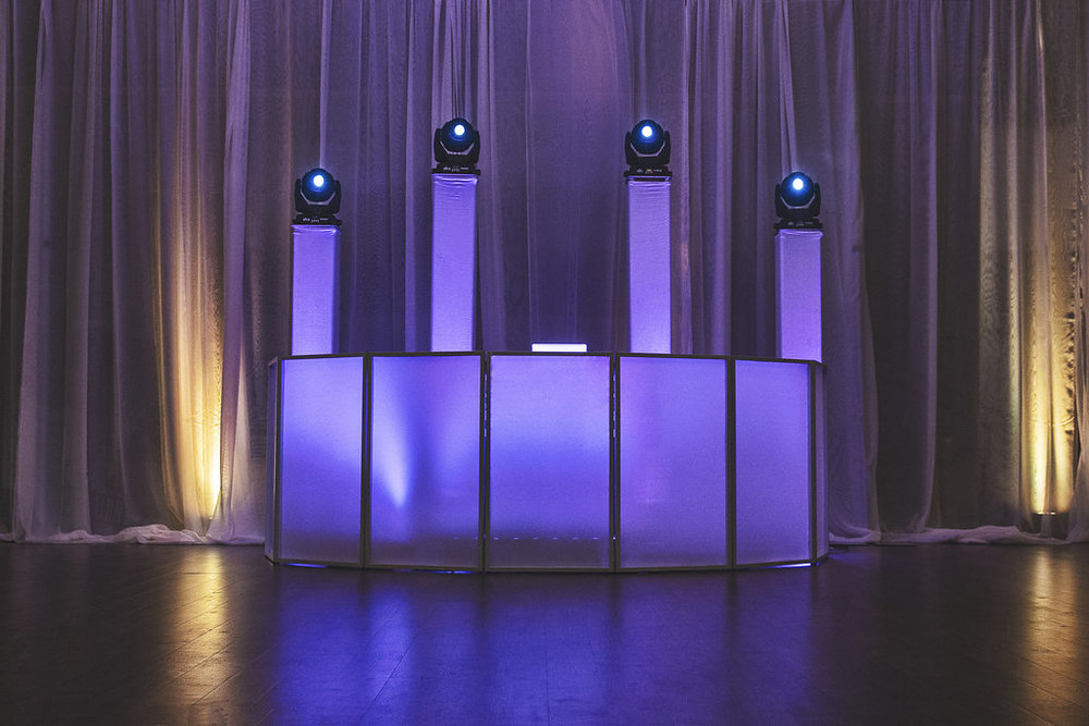 Standard Plus Up-Lighting $ 1200  - UP To 6 Hours Of ServiceHigh-End Pro Audio Sound SystemLED Intelligent Dance Floor lighting Professional DJProfessional MCWireless Microphone Dinner/Cocktail Hour Music LIT LED FACADE10 LED UP-LIGHTS