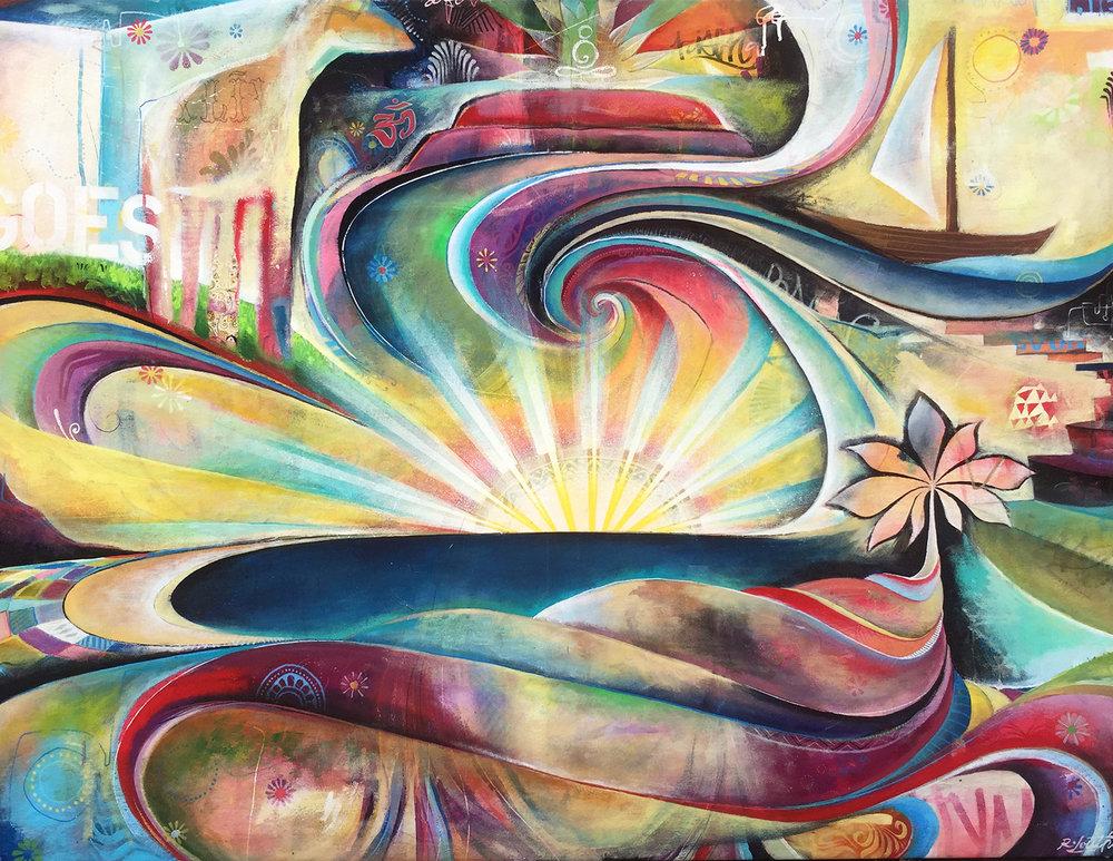 'Dreamstate' Acrylic on canvas. 38h x 54w. 2015