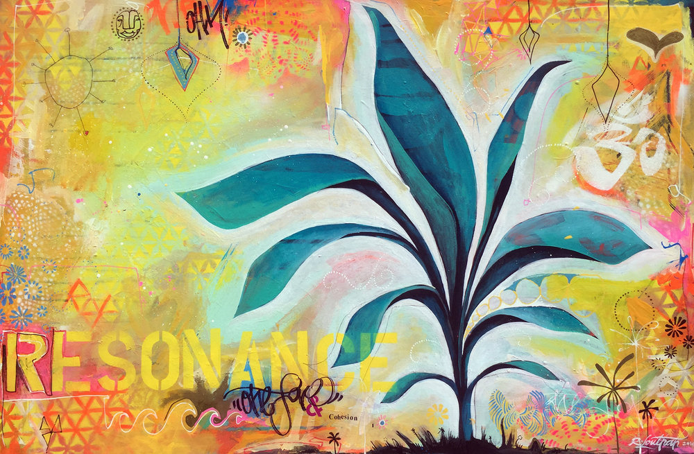 'Anulyf' Acrylic/Aerosol on canvas. 22h x 32w. 2015