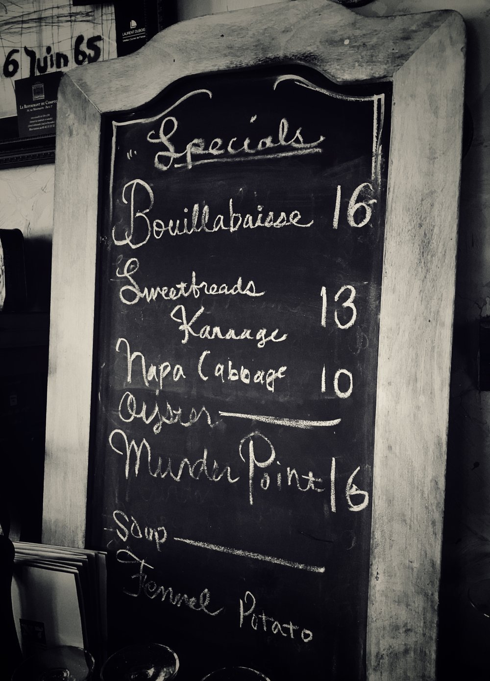 - N7's menu changes as the seasons do, according to what is available from our purveyors and what we grow in our own garden.We also offer nightly specials, which change every few days or so. The chalkboard gives a sample night.Our dishes are generally served family style for the entire table, meant to be shared. We do not course our dishes in the general sense, but let them flow from the kitchen as they are ready.If you want your meal coursed or want your dishes served all at once, each person to their own plate, please alert your server.