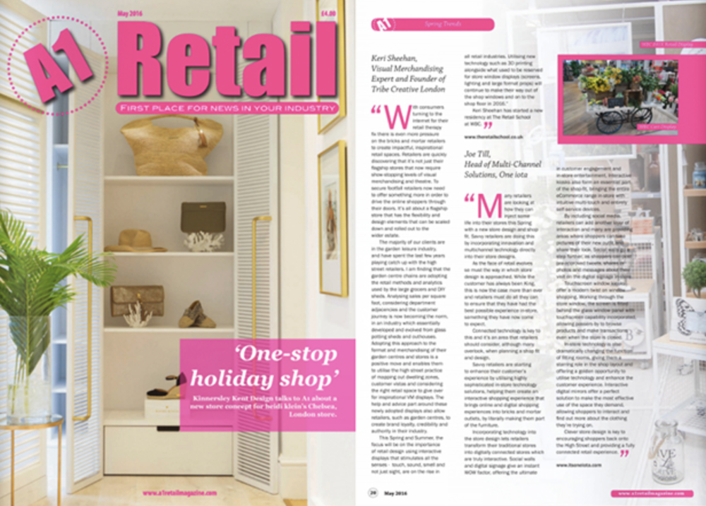 A1 Retail Magazine 2016 - May 2016 - feature on high street retailers and the world of VM