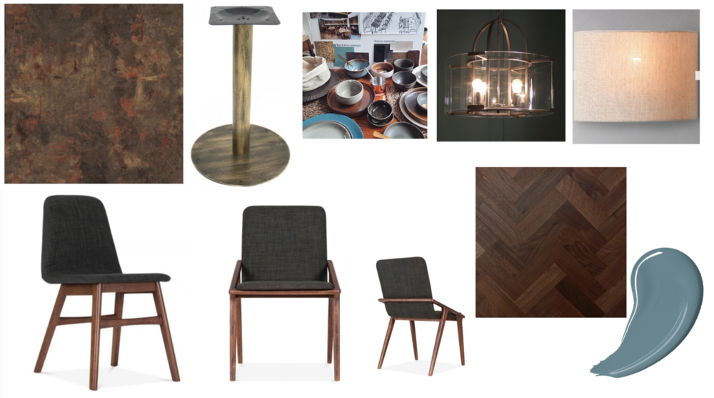 Approved moodboard. Now it was sample stage.. we went through a lot of chairs! Picking chairs is an emotive sign off process the ones below are just a few that we put forward.