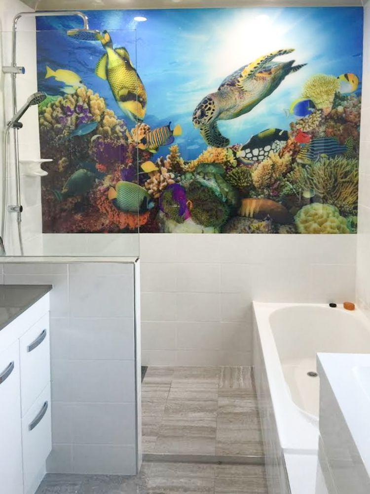 Printed Bathroom Splashbacks - Underwater scene