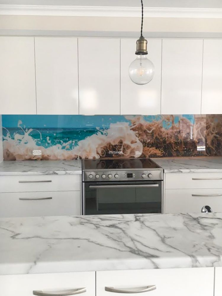 Printed Splashback - Crashing wave