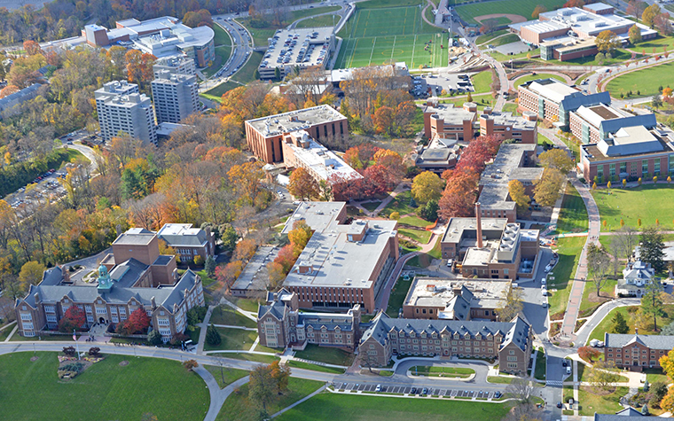 Towson University Overhead View