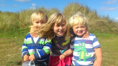 My Tribe- Becca age 5 and Sam and Jake age 3 years old.