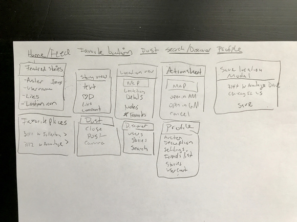 Wireframes - When the user tasks were defined and after sketching multiple wireframes I then began to develop more hi-fidelity wireframes in Sketch. These wireframes helped determine the content requirements, the screen layout, the navigation between screens, and the app functionality.
