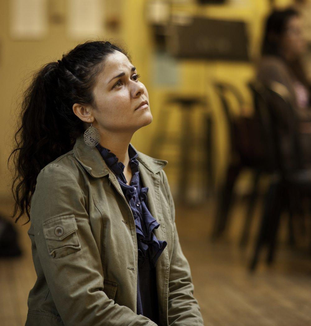 Alexandria Wailes as Eliza Boardman in rehearsal.