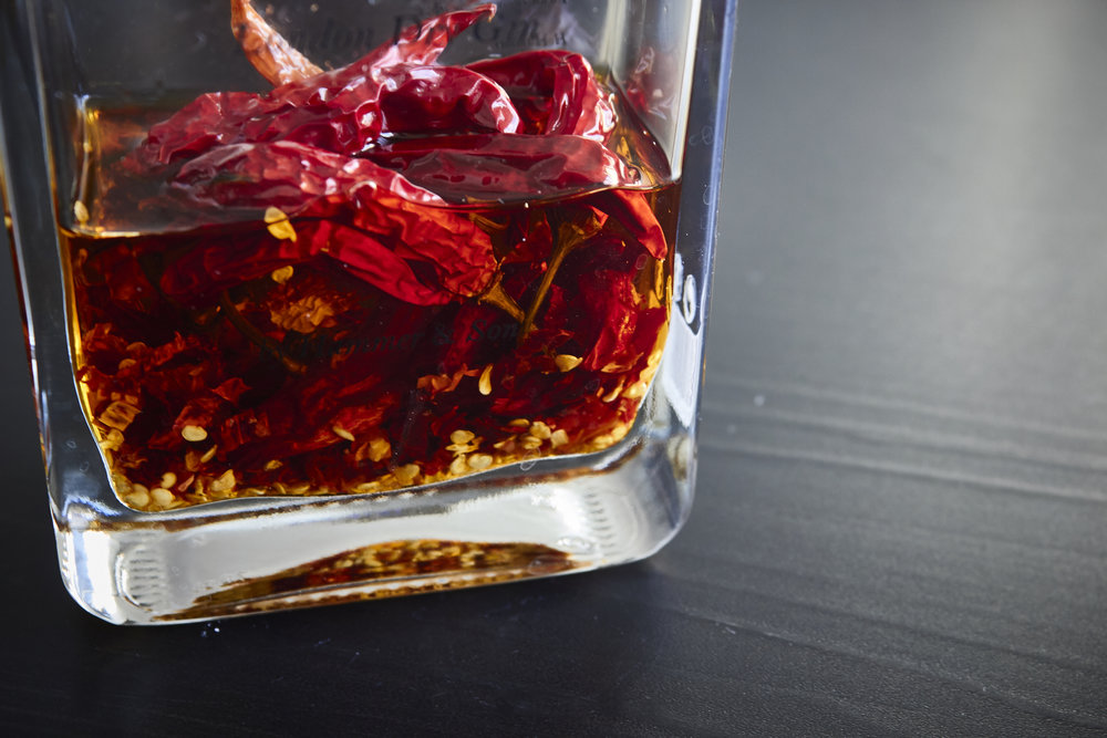Spicy Homemade Chili Oil - the gorgeous finished oil | In Carina's Kitchen