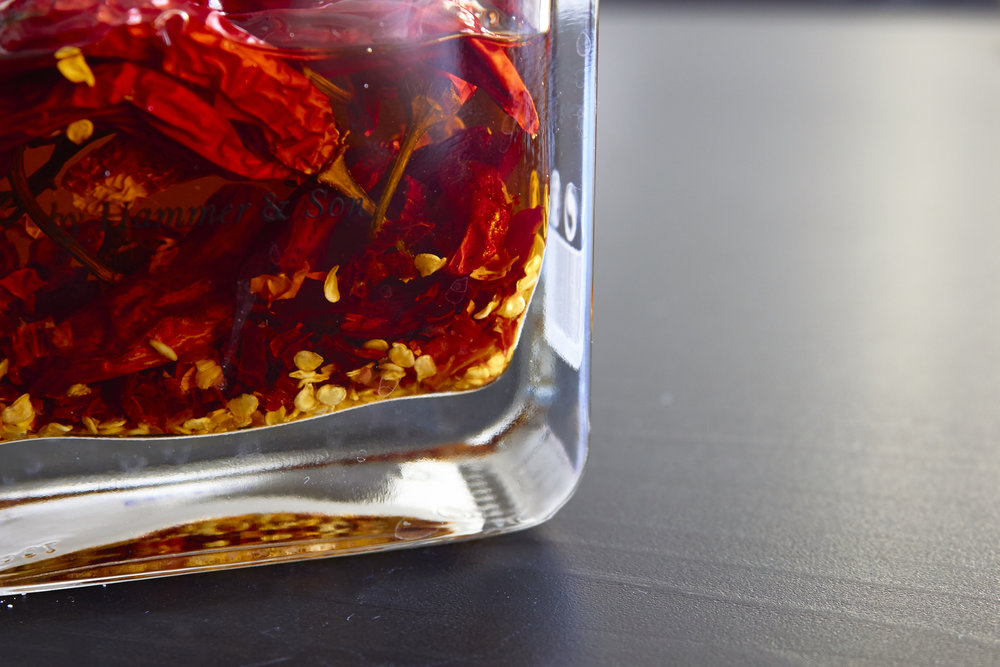 Spicy Homemade Chili Oil - the gorgeous finished oil   In Carina's Kitchen