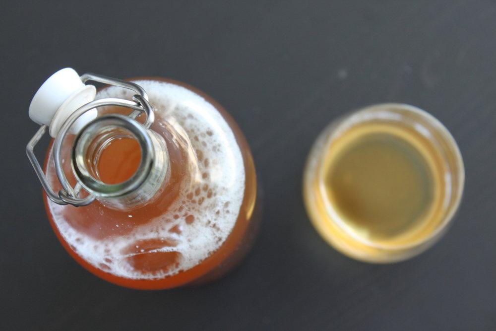 Making home-brewed kombucha - The finished home-brewed kombucha   In Carina's Kitchen