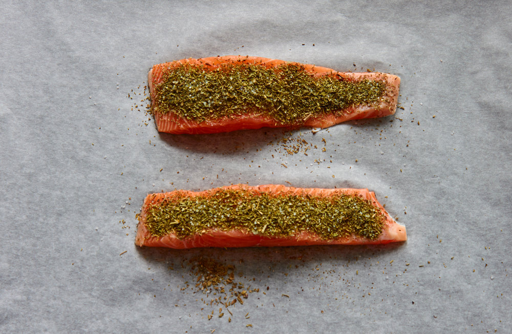 Baked Salmon 2 Ways - Herb Crusted Salmon | In Carina's Kitchen