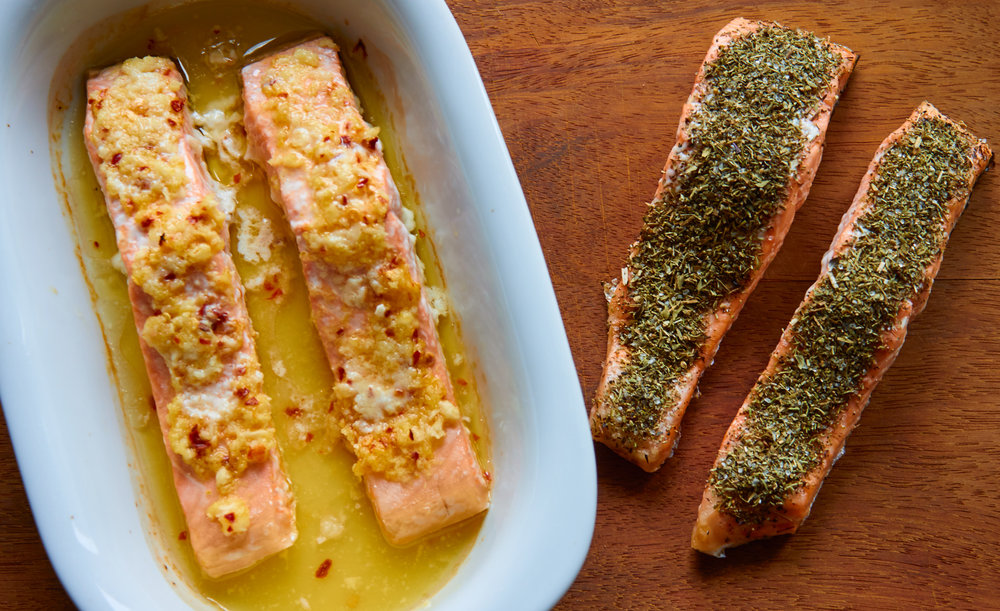 Baked Salmon 2 Ways - Herb Crusted Salmon vs Lemon-Ginger Salmon | In Carina's Kitchen