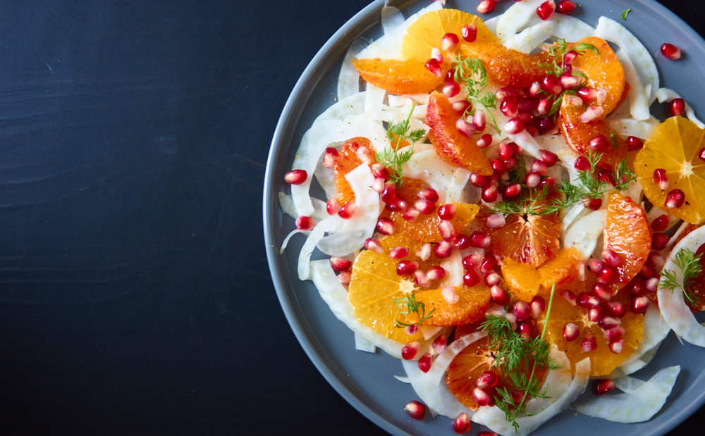 Blood Orange, Fennel and Pomegranate Salad - the final gorgeous salad | In Carina's Kitchen