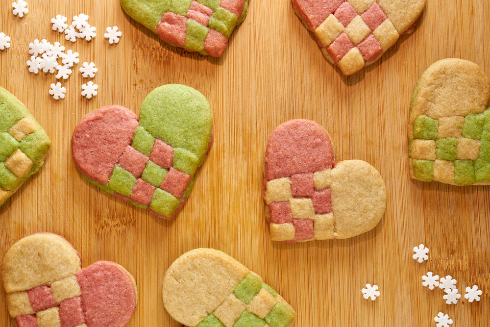 """""""Woven"""" Heart Cookies   Julehjerte Småkager   Danish Traditions   In Carina's Kitchen"""