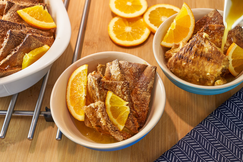 Pita Bread Pudding with Orange Syrup   In Carina's Kitchen